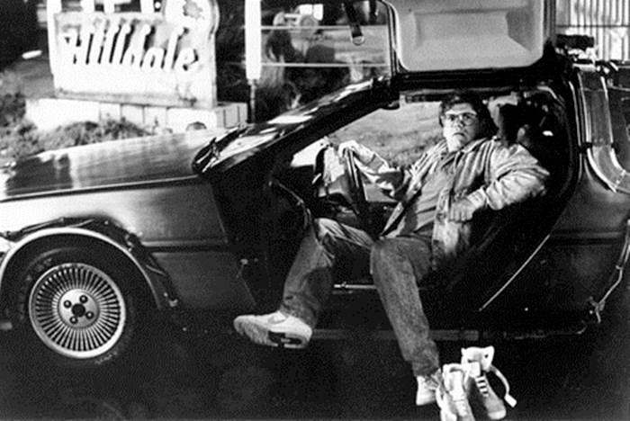 """Роберт Змекис на съемочной площадке фильма """"Назад в будущее"""""""