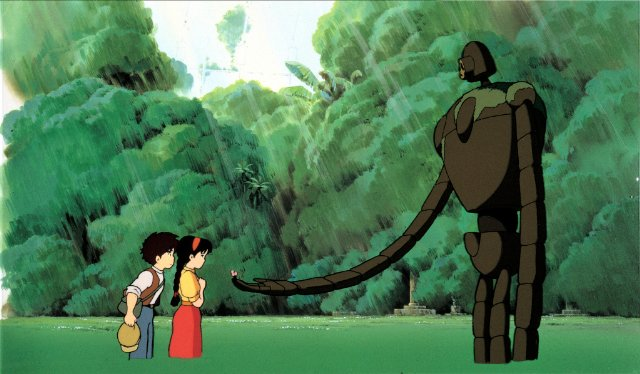 "A frame from the anime film ""The Heavenly Castle of Laputa"""
