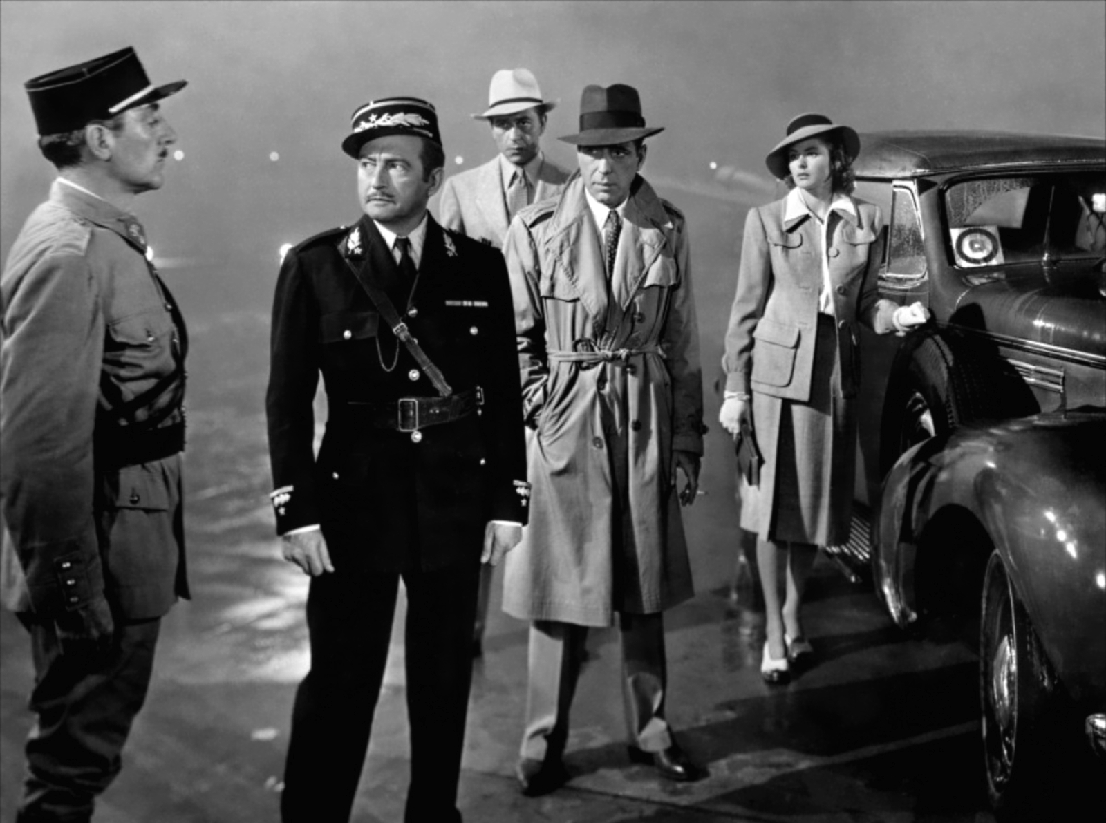"Shot from the movie ""Casablanca"""