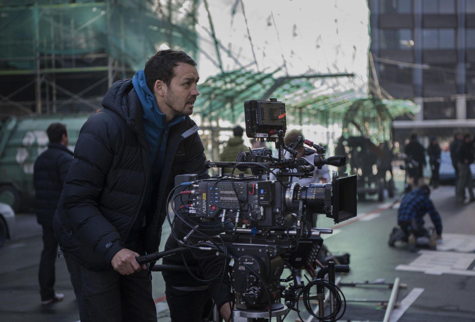 """Руперт Сандерс на съемочной площадке фильма """"Призрак в доспехах"""""""