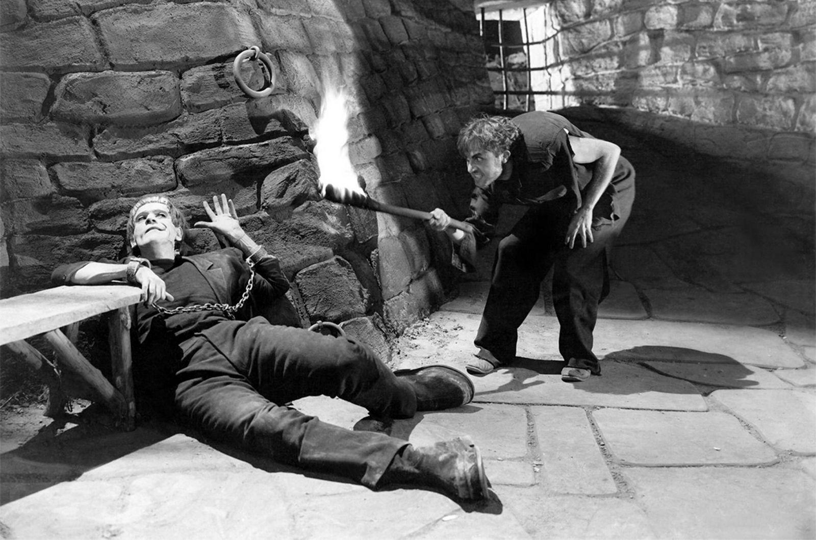 "Shot from the film ""Frankenstein"""