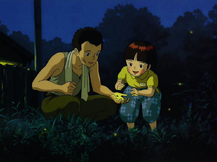 "A still from the cartoon ""Tomb of the Fireflies"""