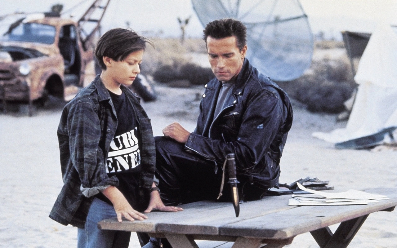 "Shot from the movie ""Terminator 2: Judgment Day"""