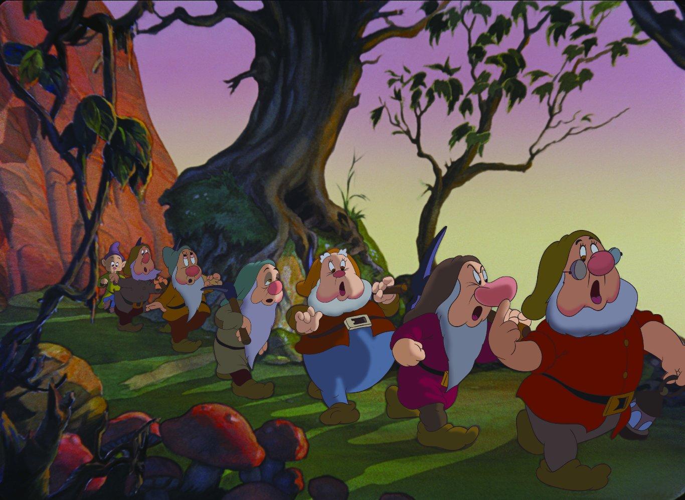Картинки мультфильма белоснежка и семь гномов