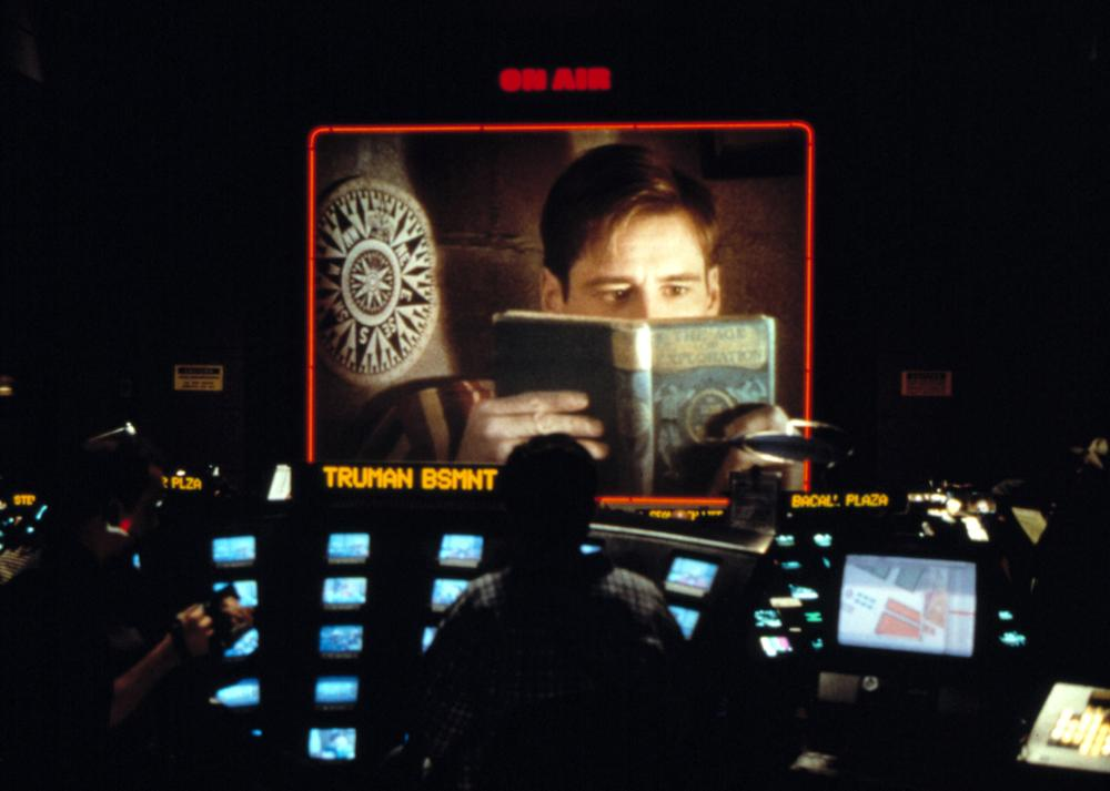 the control of christoph over the life of truman in the truman show a film by peter weir