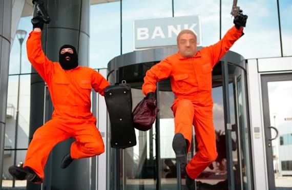 Фото как грабят банк