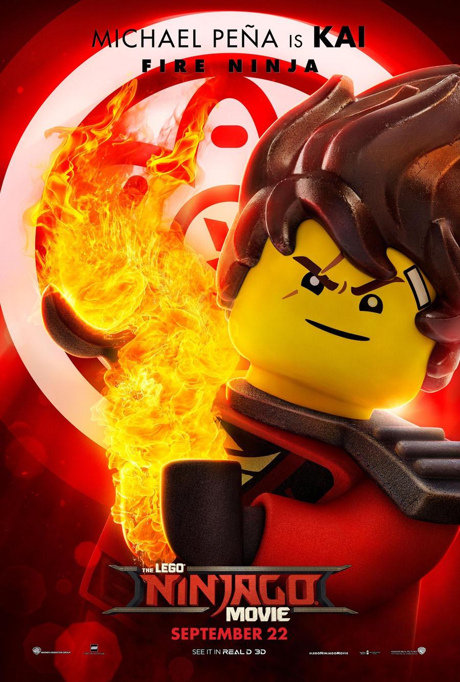 The lego ninjago movie poster