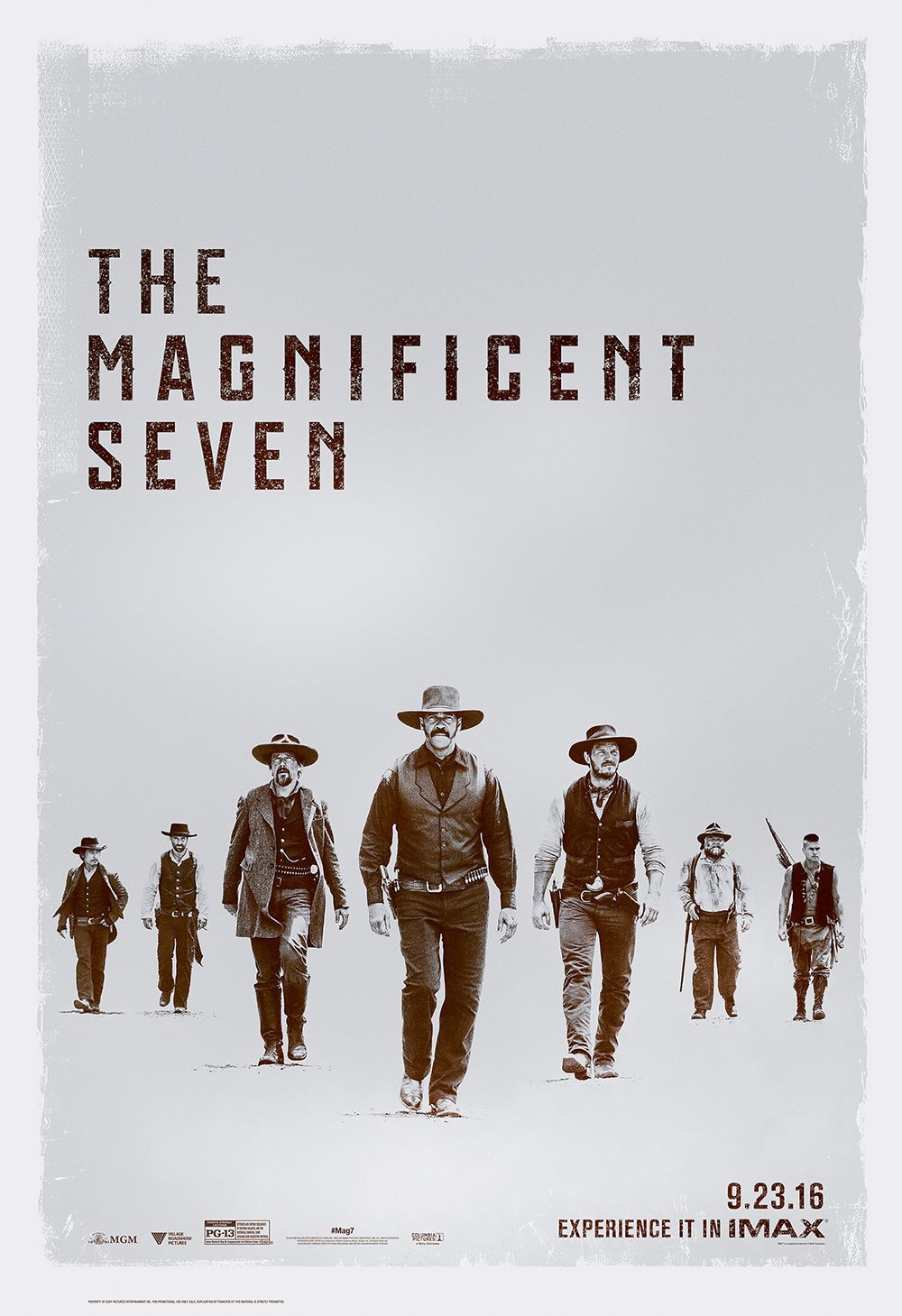 Magnificent seven 2016 movie poster
