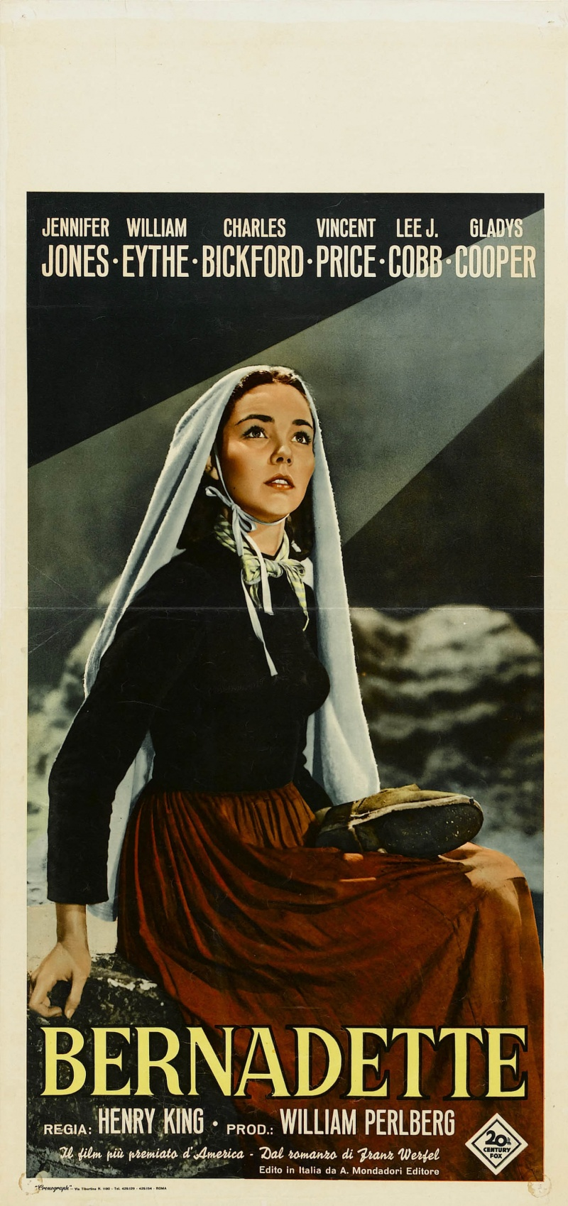 song of bernadette The song of bernadette is not a great film, but it is a very good film it is characteristic of the kind of earnest prestige or super-spectacle picture that was.