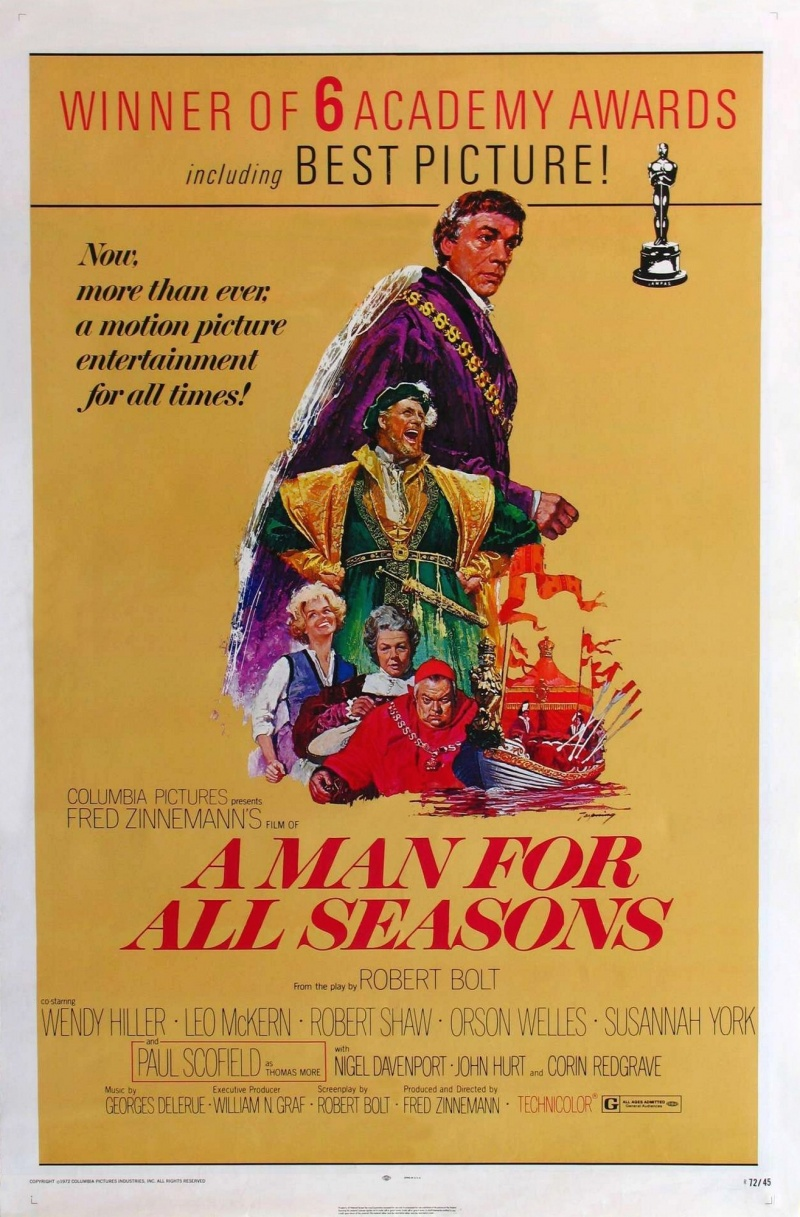 a review of a man for all seasons directed by fred zinnemann