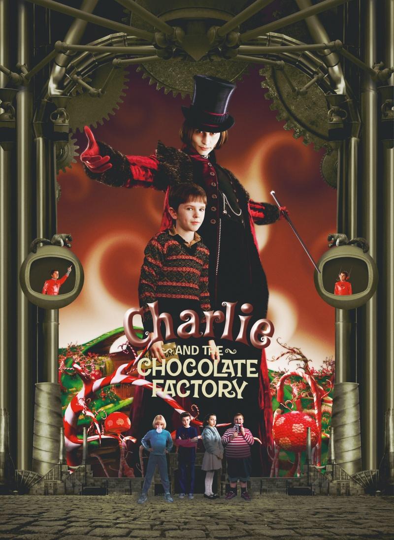 Чарли шоколадная фабрика постер