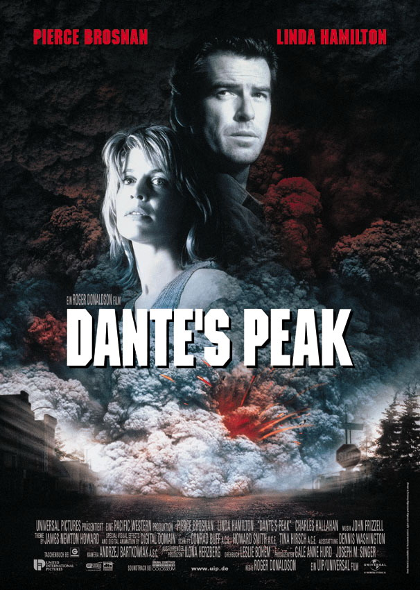 dantes peak Quick take: action/adventure: a volcano threatens a small town plot: dante's peak is a peaceful small town community that's just.