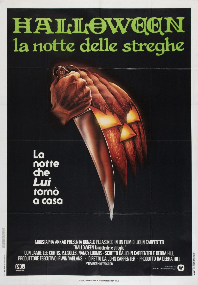 Movie poster for original halloween