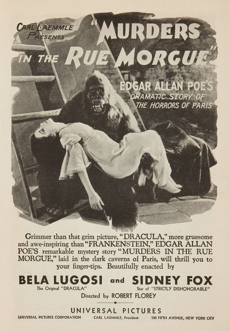 murders in the rue morgue thesis statement