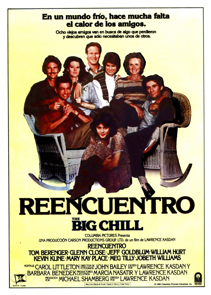 the big chill The big chill: surviving by harlan jacobson august 04, 2014 rebellious children of the sixties become conflicted consumers of the eighties.