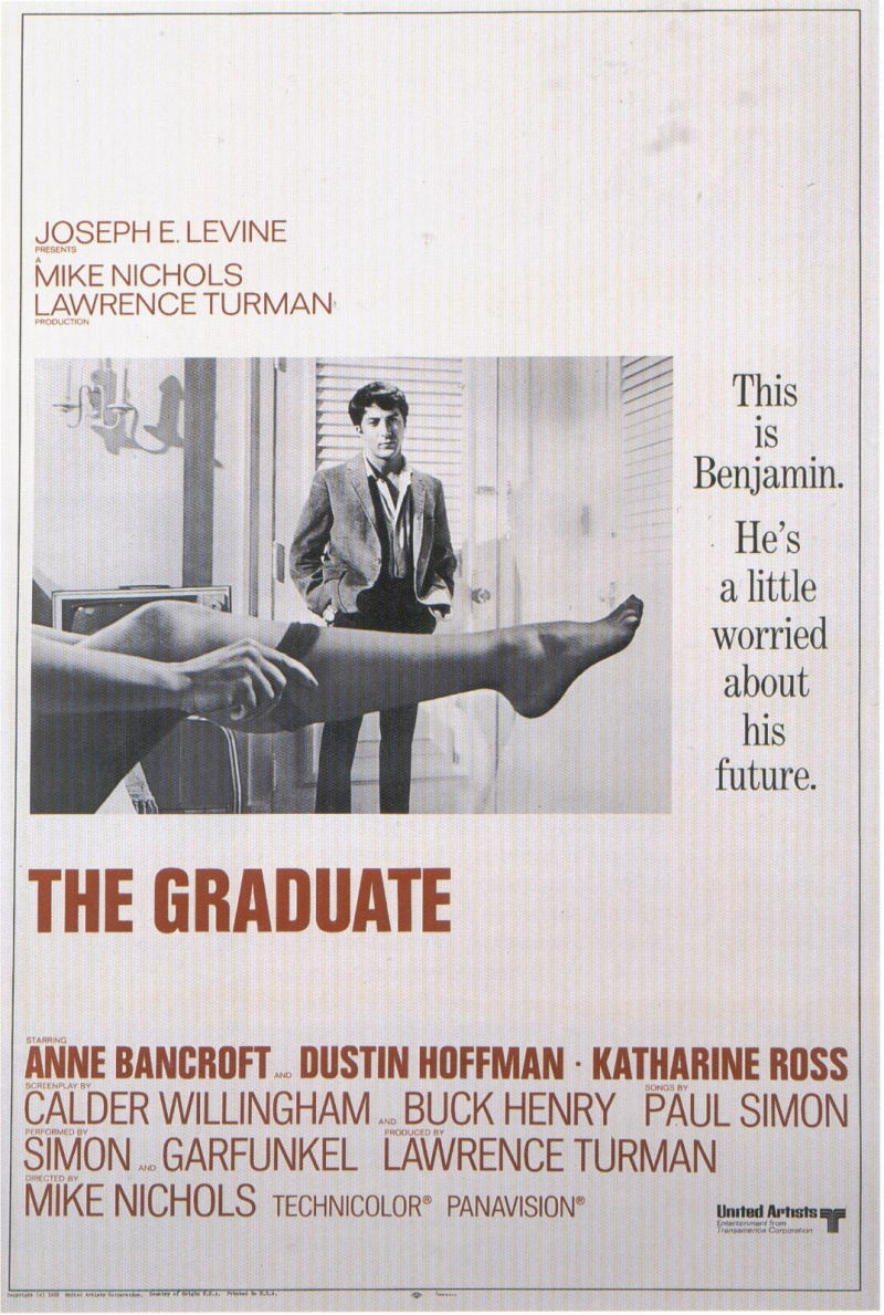 the graduate film analysis He sold the movie rights to the graduate for $20,000 (a pittance considering how valuable it later became), gave most of his royalties to charity, and turned down an inheritance from his father 10.