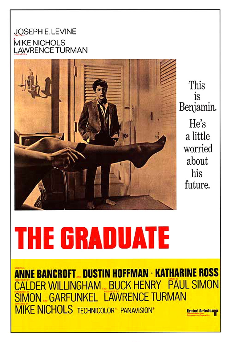 an analysis of the graduate a film by mike nichols Released in december of 1967, mike nichols' s the graduate was the first major hollywood hit to feature a score by arock star 1 paul simon's music for the film differs from the score material employed by pre-rock hollywood in one central way: most of it takes the form of already recorded songs whose.