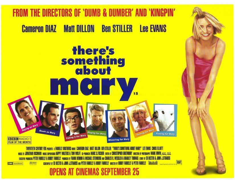 a review of something about mary a comedy film by the farinelli brothers Review date: like in july of 1998 when this became the summer's runaway comedy blockbuster the film also features a there's something about mary.