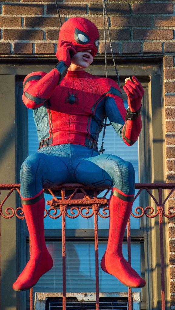 человек-паук возвращение домой фото со съемок