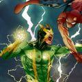 Джейми Фокс в роли Электро на съемочной площадке «Нового Человека-паука 2»