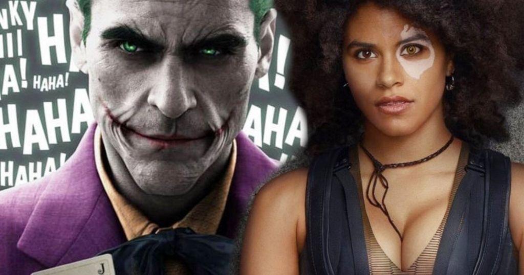 Зази Битц на кадре из кинокомикса «Джокер» с Хоакином Фениксом