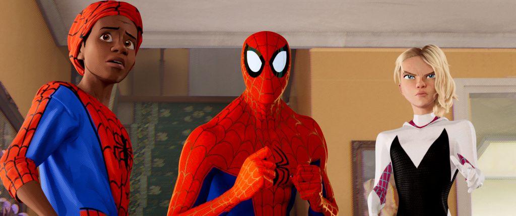 Питер Паркер и его ученик в отрывке из «Человека-паука: Через вселенные»