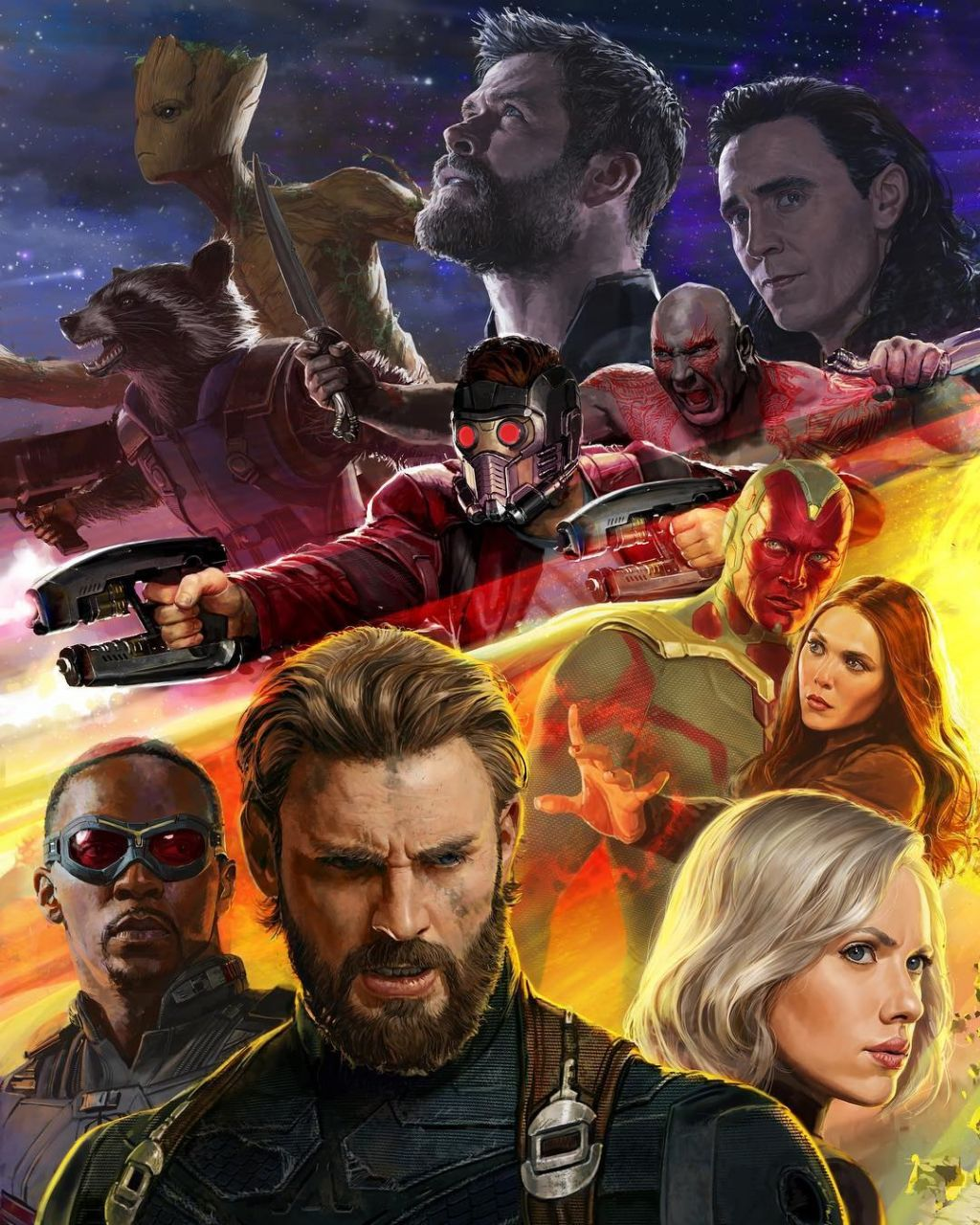 Первые фото со съемок четвертой части «Мстителей»