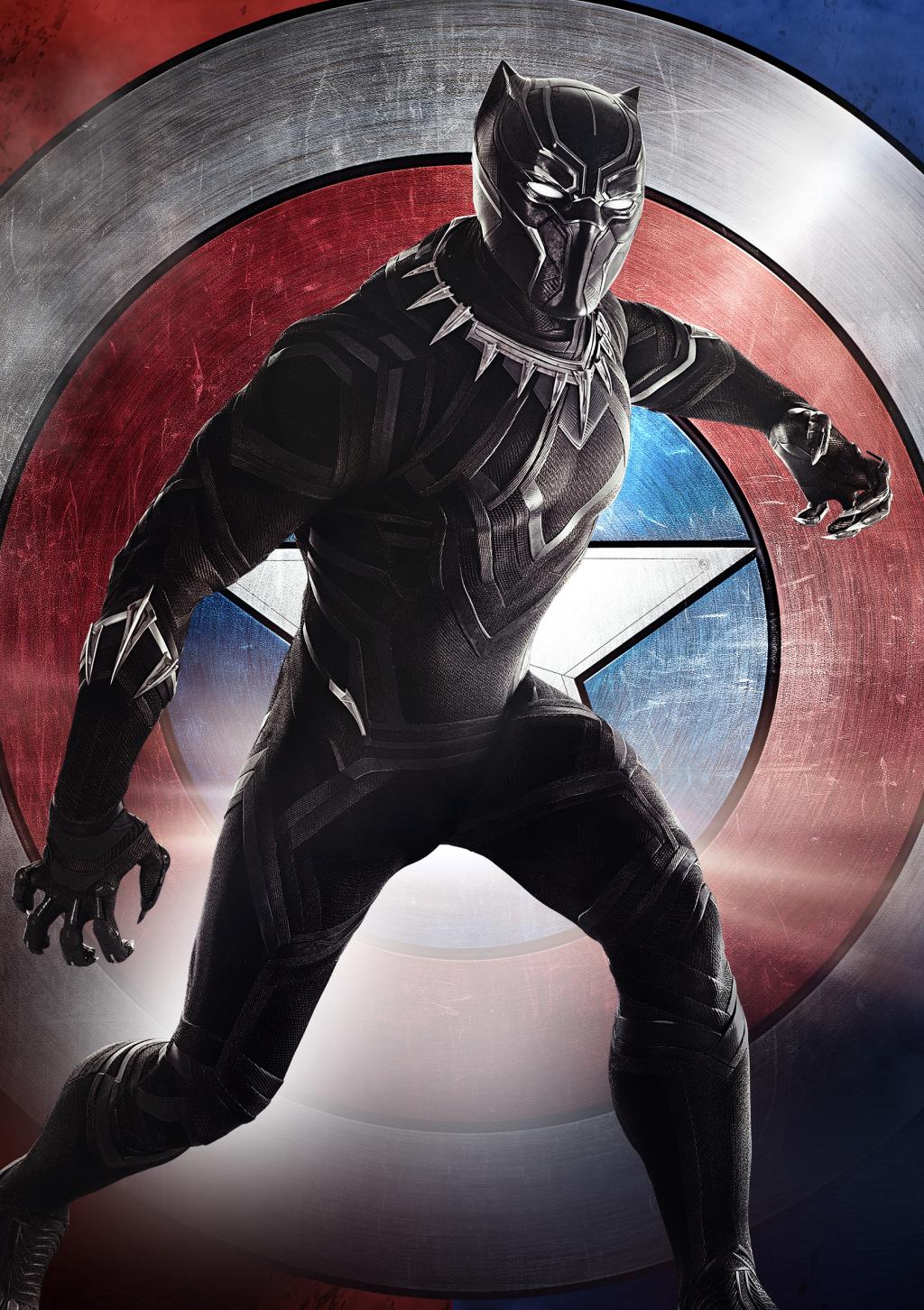Зарубежный плакат «Чёрной Пантеры» с Чедвиком Боузманом