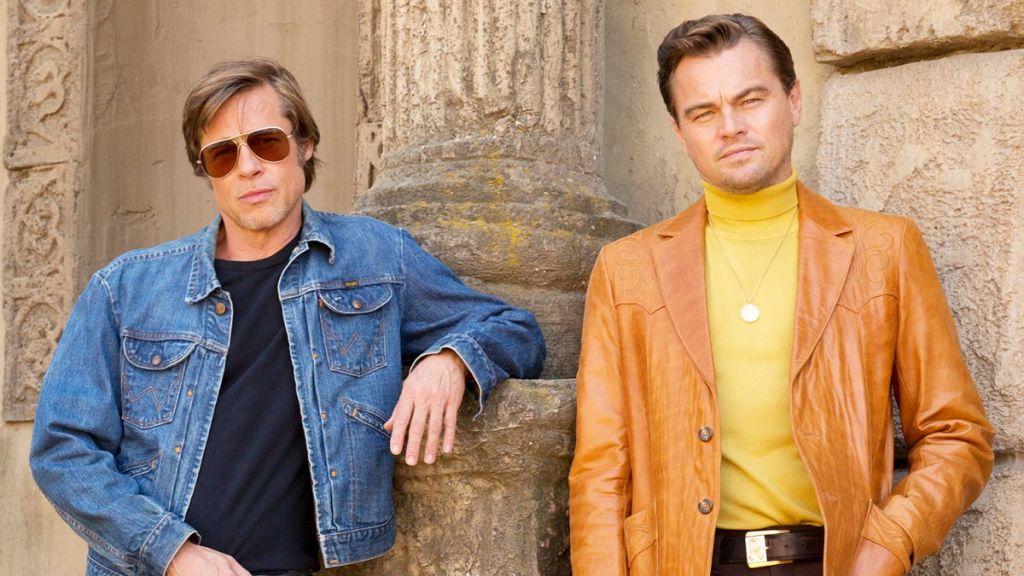 ДиКаприо и Брэд Питт на съёмках «Однажды в Голливуде» Тарантино