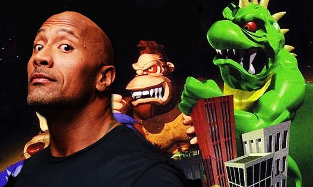 Дуэйн Джонсон на съемках экранизации игры «Рэмпейдж»