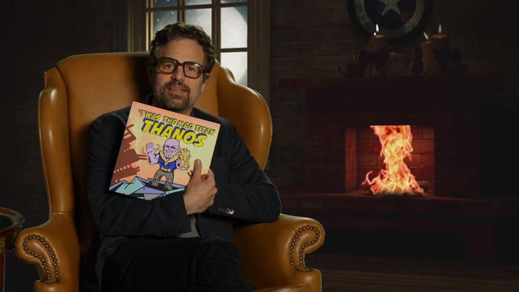 «Мстители» прочли детям сказку про злого Таноса