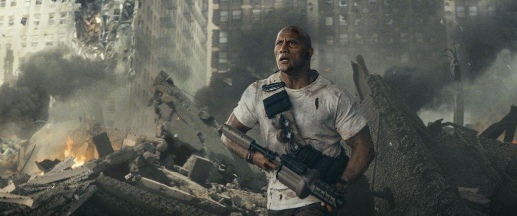 Дебютный постер боевика «Рэмпейдж» с Дуэйном Джонсоном