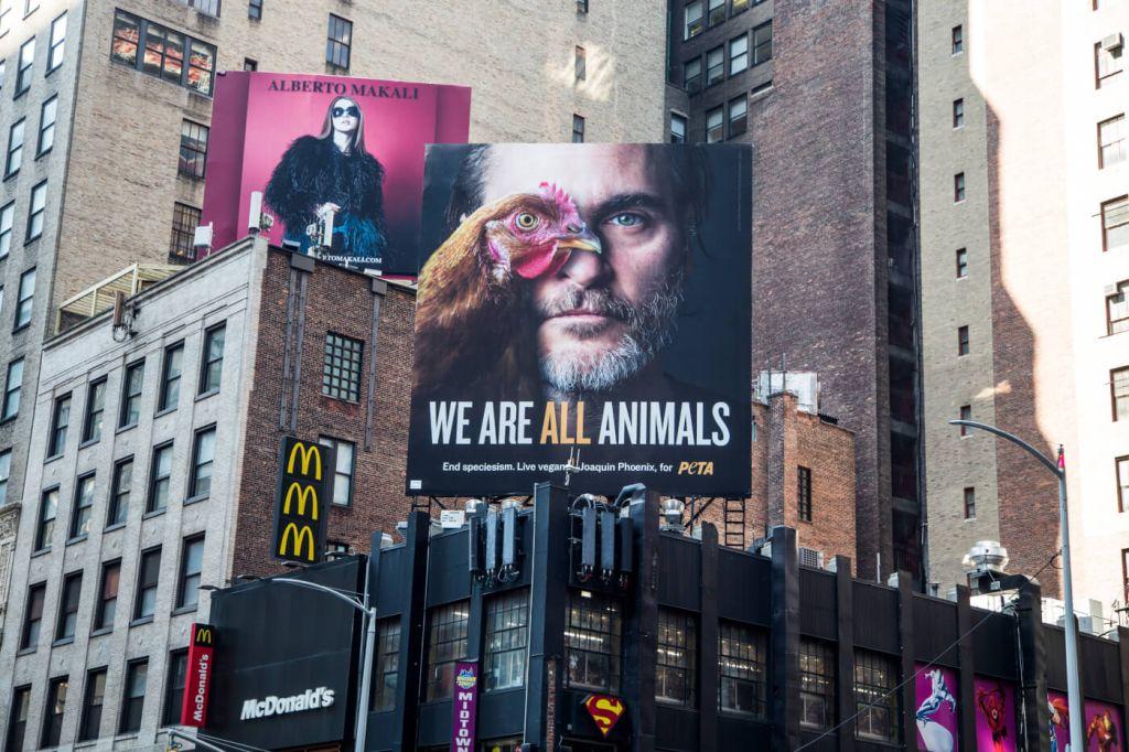 Хоакин Феникс стал человеком года по версии PETA