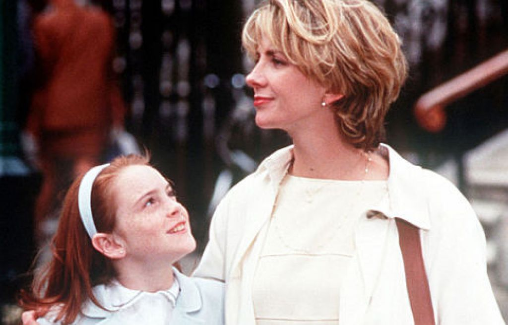 Natasha Richardson e Lindsay Lohan. Sono insieme a Londra. La giovane attrice non mancherà di ricordarla nella reunion di Genitori in Trappola.