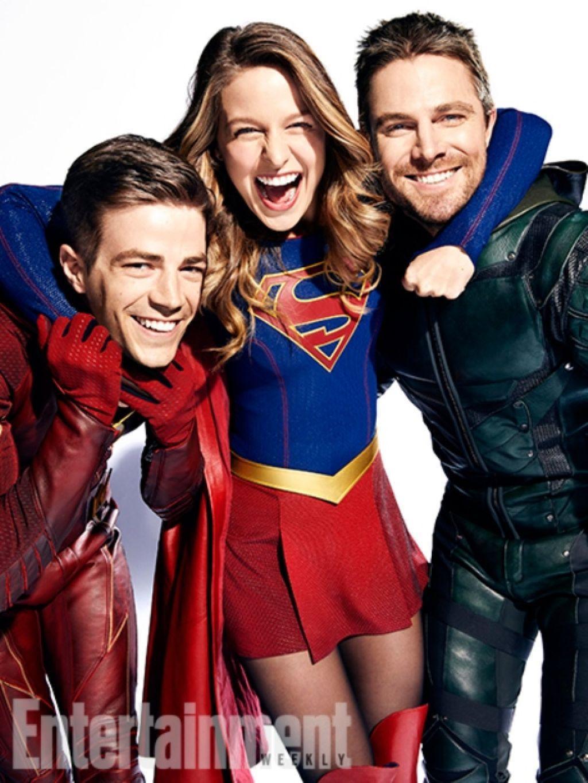 Кадры из кроссовера сериалов DC и The CW