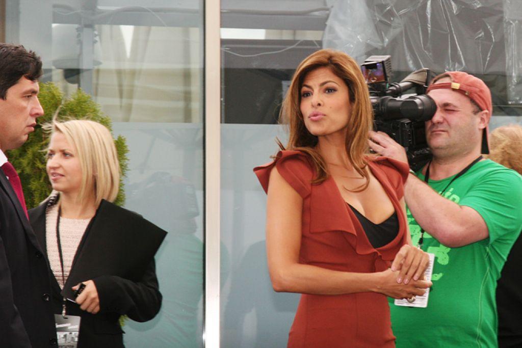 Ева Мендес, Марк Уолберг и Уилл Феррелл в Москве