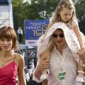 Елизавета Башарова и Марат Башаров с дочерью Амели