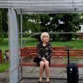 Ольга Куриленко на съемочной площадке «Земли забвения»