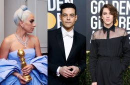 Actors on the red carpet of the Golden Globe