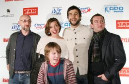 "Photo-report: Milla Jovovich, Ivan Urgant and Konstantin Khabensky at the press conference of the movie ""Freaks"""