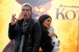 Photo-report: Salma Hayek and Antonio Banderas in Moscow