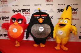 """Фоторепортаж: Московская премьера анимационной комедии """"Angry Birds в кино"""""""