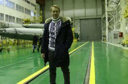 Фоторепортаж: Евгений Миронов проводил космонавтов на орбиту