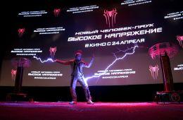 """Фоторепортаж: Премьера фантастического экшна """"Новый Человек-паук: Высокое напряжение"""" в Москве"""