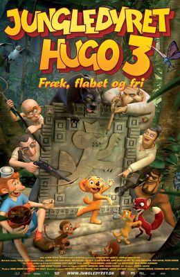 """Постер к фильму """"Хитрюга Джек"""" /Jungledyret Hugo: Fraek, flabet og fri/ (2007)"""
