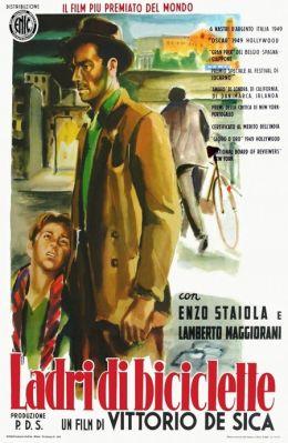 """Постер к фильму """"Похитители велосипедов"""" /Ladri di biciclette/ (1948)"""