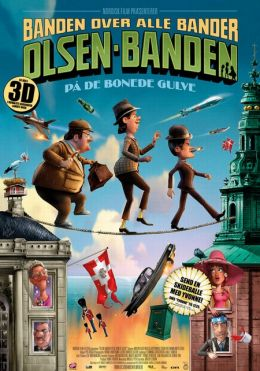 """Постер к фильму """"Балбесы 3D"""" /Olsen Banden på de bonede gulve/ (2010)"""