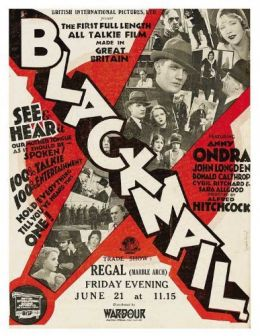 "Постер к фильму ""Шантаж"" /Blackmail/ (1929)"