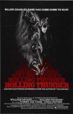 """Постер к фильму """"Гремящий гром"""" /Rolling Thunder/ (1977)"""