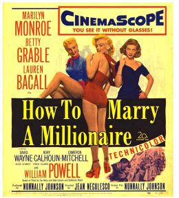 """Постер к фильму """"Как выйти замуж за миллионера"""" /How to Marry a Millionaire/ (1953)"""